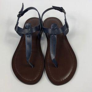 NWOT Matisse Florentine leather sandals- Navy  7